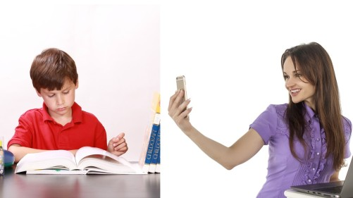 phone vs books